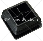 MS Plug 50 x 50mm Tube Black Swingover
