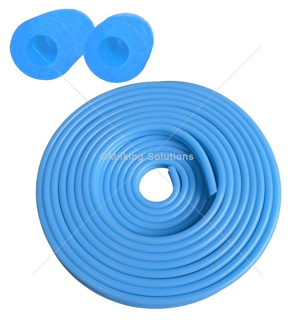 MS Pack Silicone Tube Twin 7mmid x 14mm x 20m Blue
